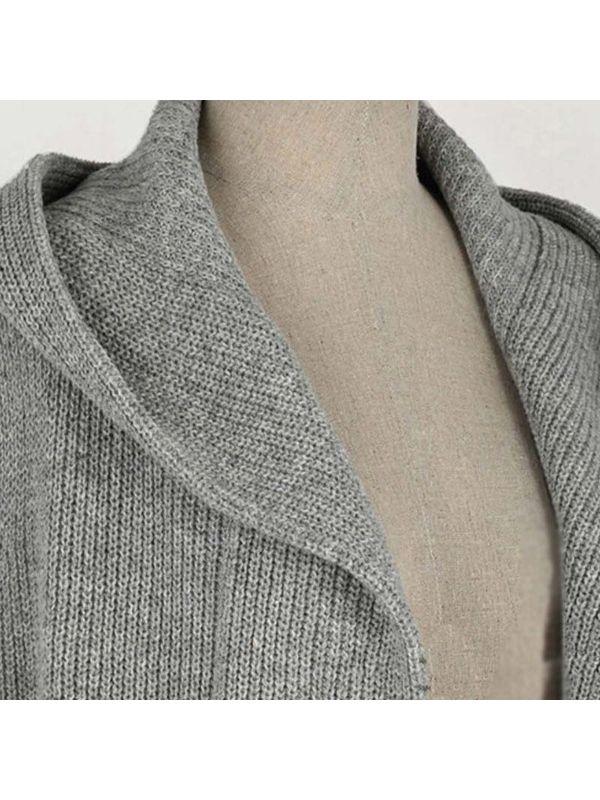 51287223544 Trendy Hooded Sleeveless Knitting Coat - Also in Plus Size