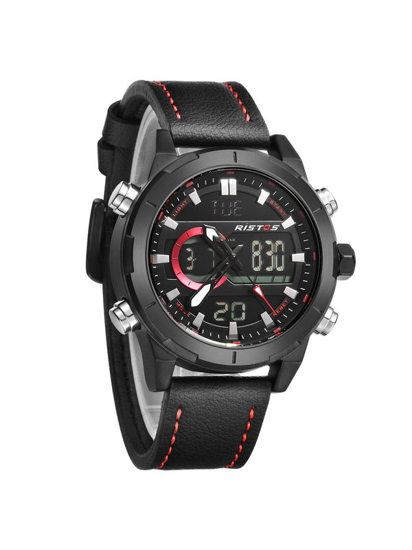 RISTOS-9342-BLack Analog Digital Chronograph Watch For -Men