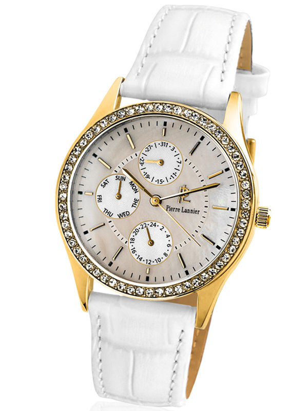 Pierre Lannier-039K590 Multifunction Analog Ladies Watch