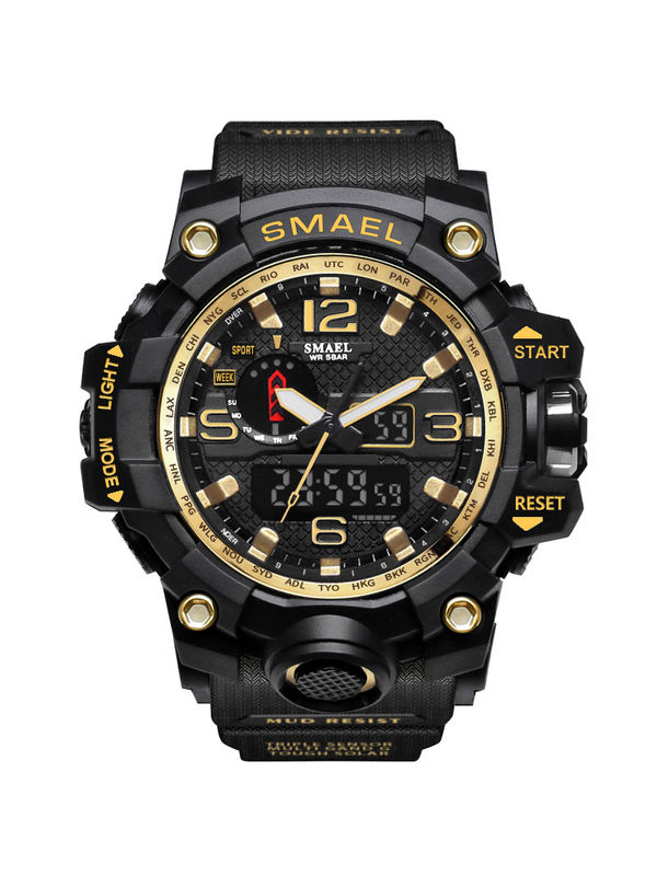 OVERFLY-SMAEL-1545-Black Analog-Digital Chronograph Sports Watch For-Men