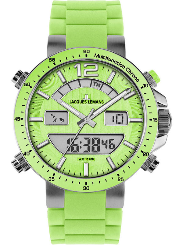 Jacques Lemans-1-1712F  Multifunction Dual-Time  Mens Watch