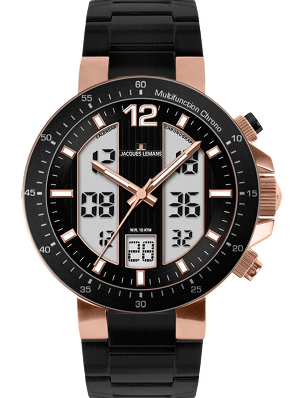 Jacques Lemans-1-1726D Analog Multifunction  Mens Watch