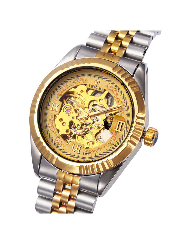 Tevise-8391-B Gold Luxury Automatic  watch For -Men