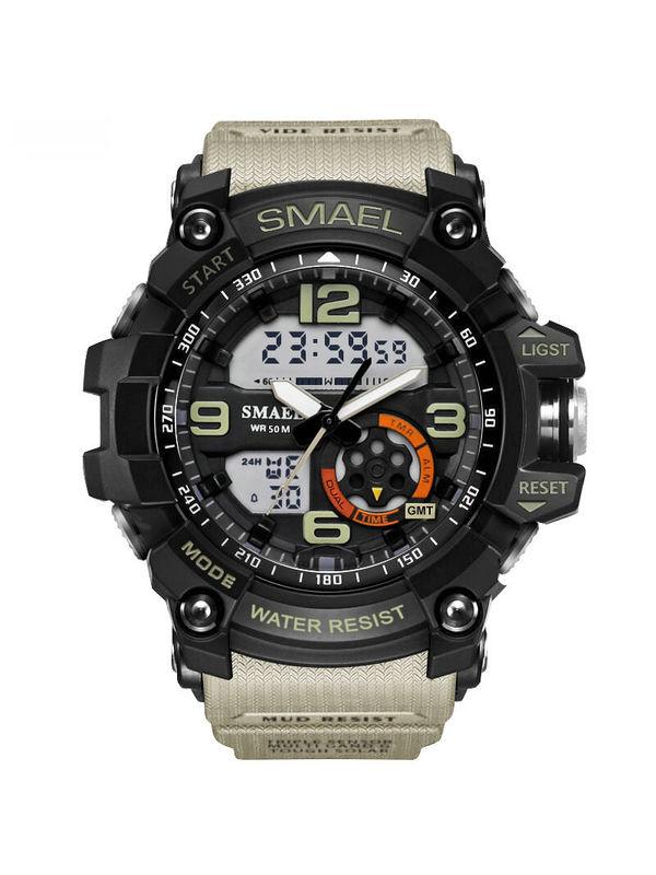 OVERFLY-SMAEL-1617- Khaki Analog-Digital Chronograph Sports Watch For-Men