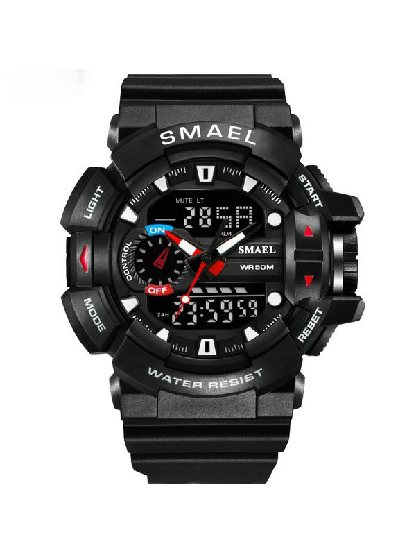 OVERFLY SMAEL- 1436-Black  Chronograph Sports Watch For-Men