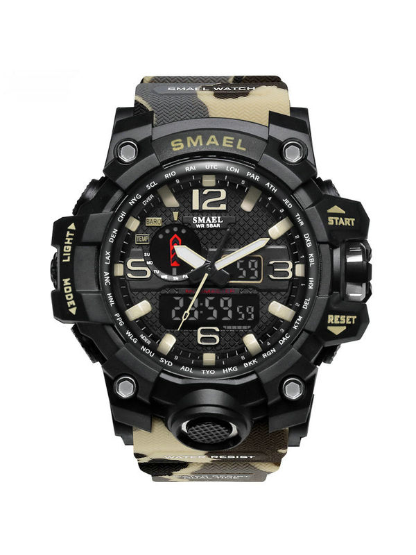 Overfly Smael 1545-Analog-Digital Military Chronograph Watch For-Men