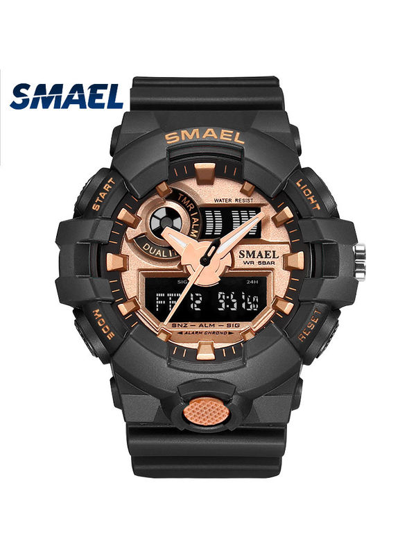 Overfly-Smael 1642 Analog-Digital Chronograph Watch For-Men