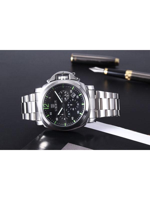 Megir-MG-3006-Black Analog  Mens Chronograph Watch