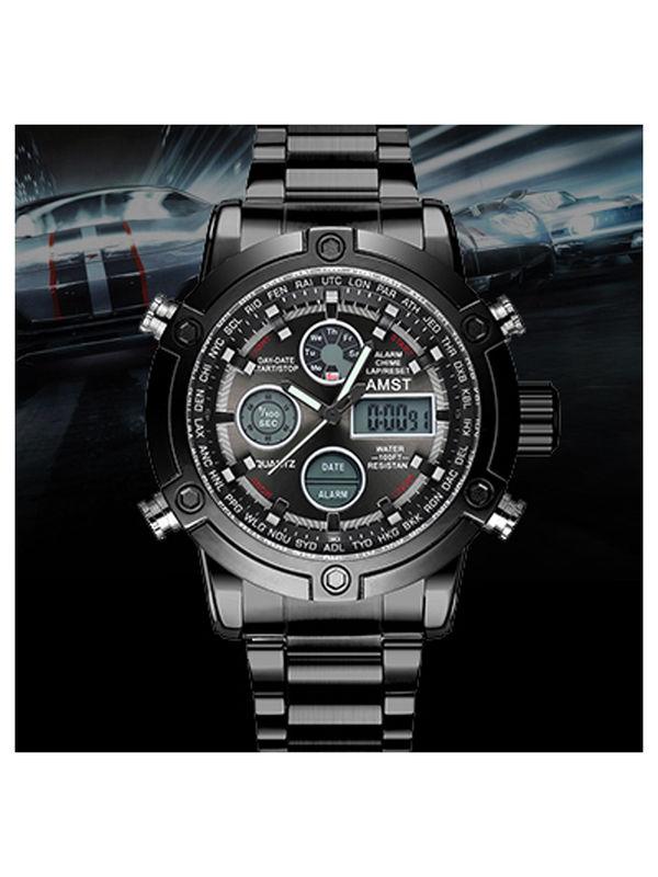 AMST-3022-Black Analog-Digital Chronograph Watch For-Men