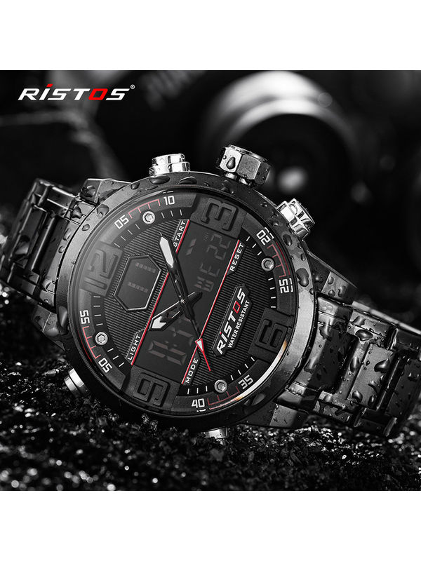 RISTOS - 9338 - Analog Digital Chronograph Watch for Men