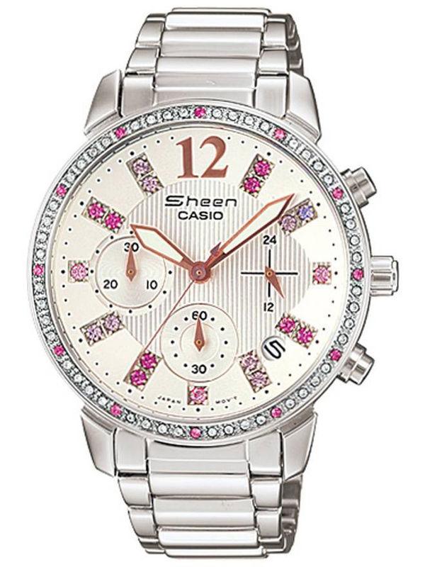 Casio Sheen SH-163 Analog Chronograph  Ladies  Watch