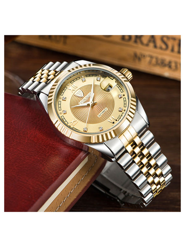 Tevise-8122-B Gold Luxury Automatic watch For -Men