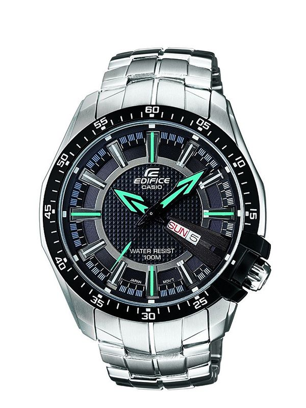 Casio Edifice Analog Black Dial Men's Watch - (ED417)