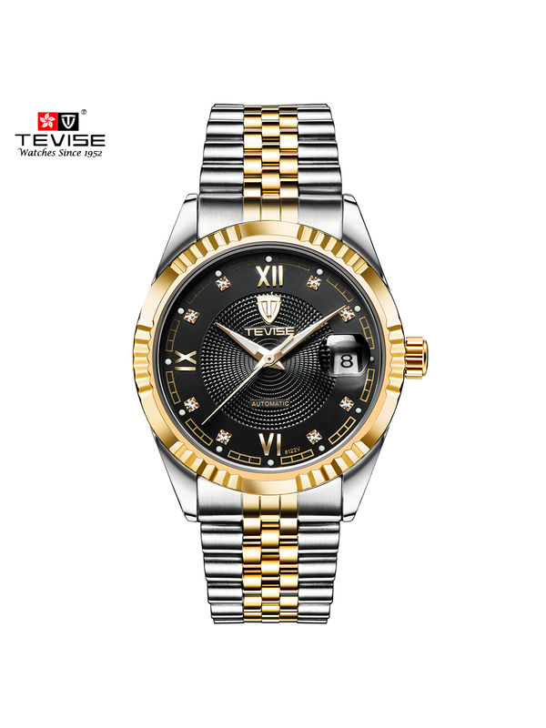 TEVISE 8122-C Black Automatic Luxury Watch for Men