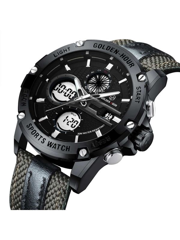 Sale Overfly Golden Hour - GH116 - Black Analog Digital Chronograph Watch  for Men 6f0222117e4