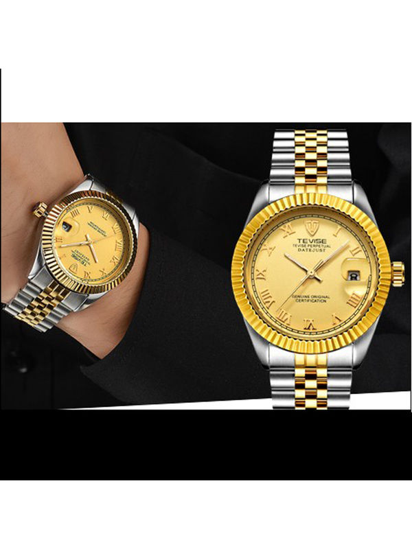 Tevise-1764G-B Gold Luxury Automatic watch For -Men