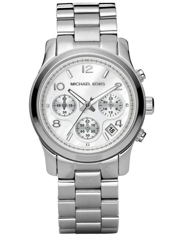 Michael Kors MK5076 Silver-tone Chronograph Analog Ladies Watch