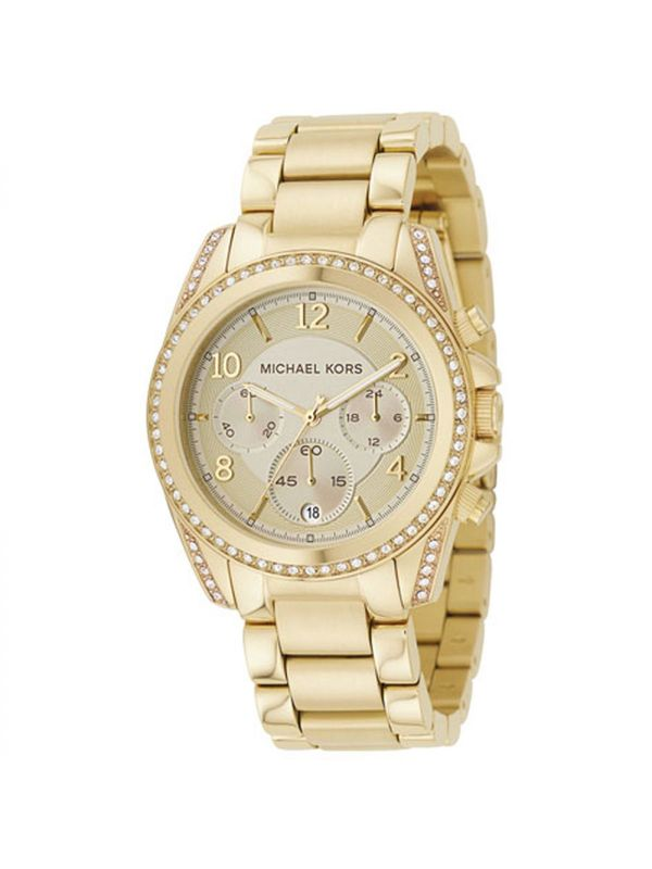 Michael Kors MK5166 Gold Chronograph Analog Ladies Watch