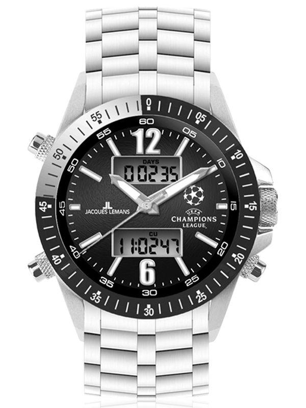 Jacques Lemans-U-34C Analog Digital Multifunction  Mens Watch