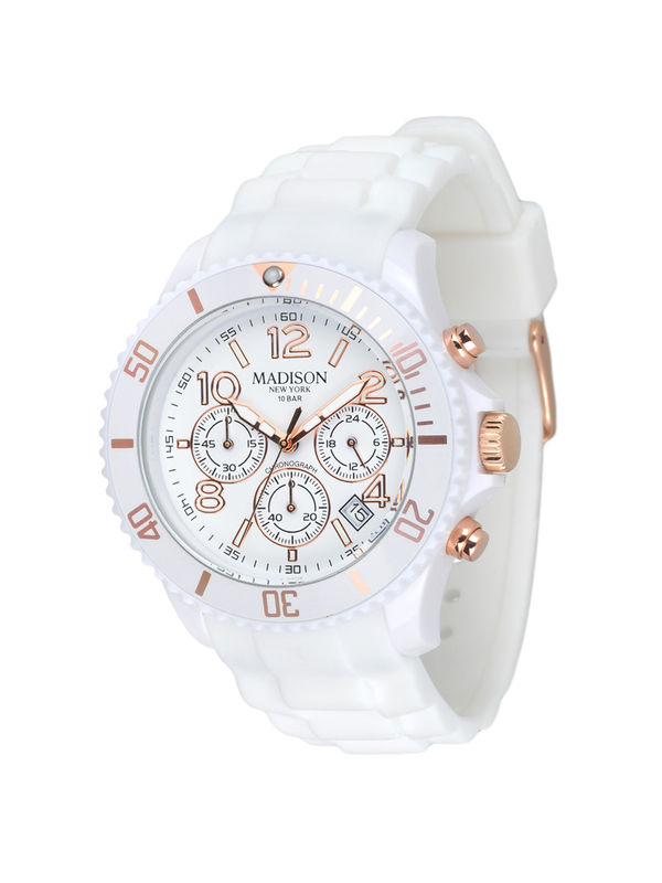 Madison New York -  U4362-1  Chronograph Analog Unisex Watch