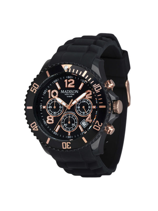 Madison New York -  U4362A1 Chronograph Analog Unisex Watch