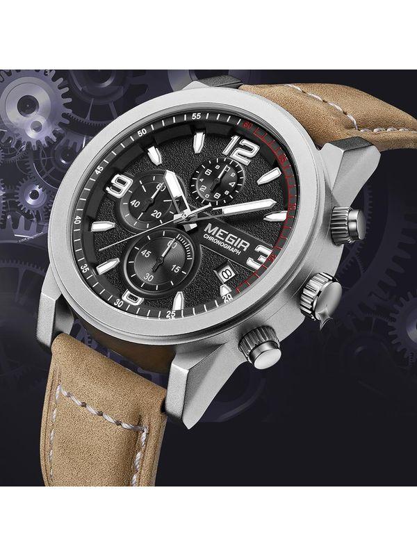 Megir-2026-Chronograph Watch for-men
