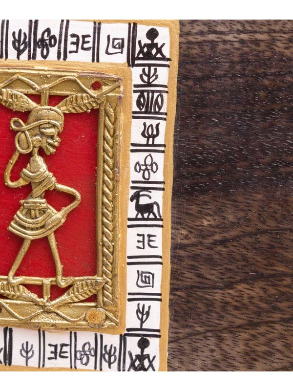 Ethnic Dhokra Customizable Handcrafted Name Plate Vacwd030