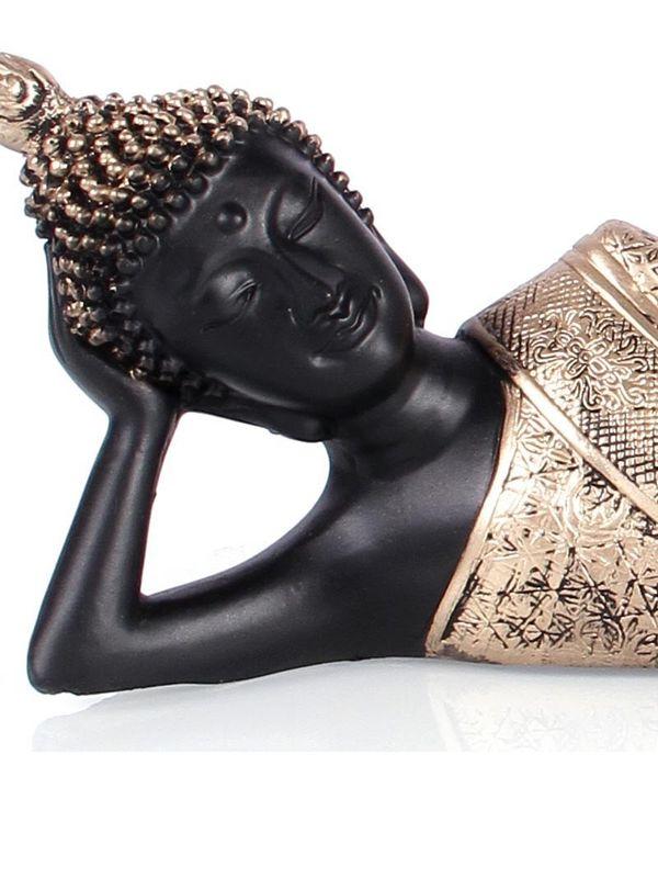 Gold Black Buddha Statue Vpgtd004