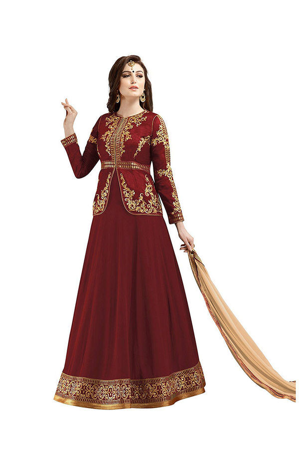 Wedding Long Anarkali Suit with Embroidery