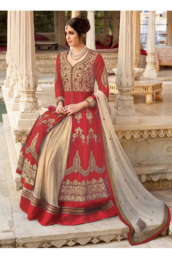 Red Color Heavy Lehenga Anarkali Salwar Suit
