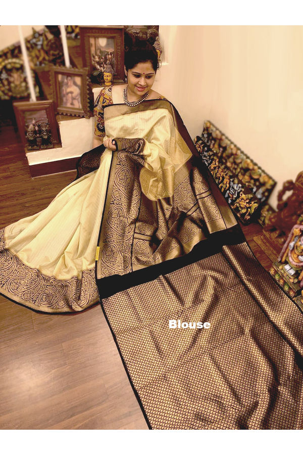 Dee's Alley  Banarasi Cotton Silk Saree  AJ 50