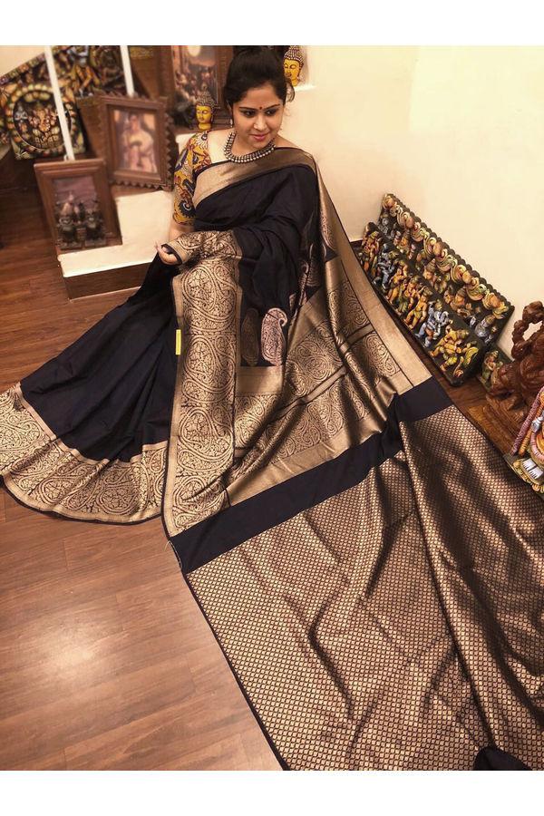 Dee's Alley  Banarasi Cotton Silk Saree  AJ 33