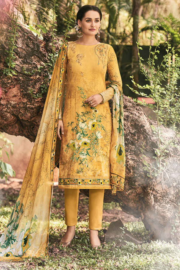 Casual Wear Straight Cotton Salwar Suit_1