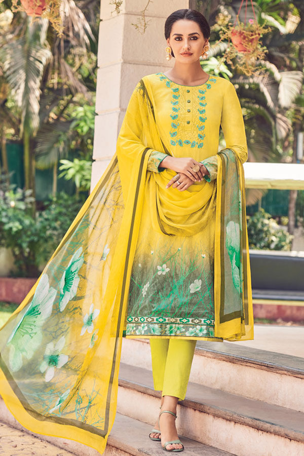 Casual Wear Straight Cotton Salwar Suit_13