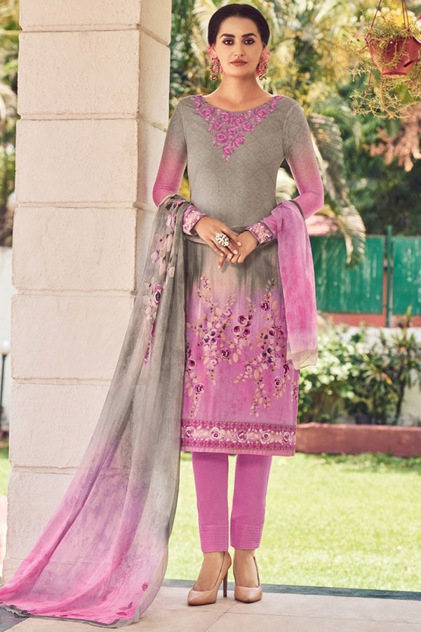 Casual Wear Straight Cotton Salwar Suit_14