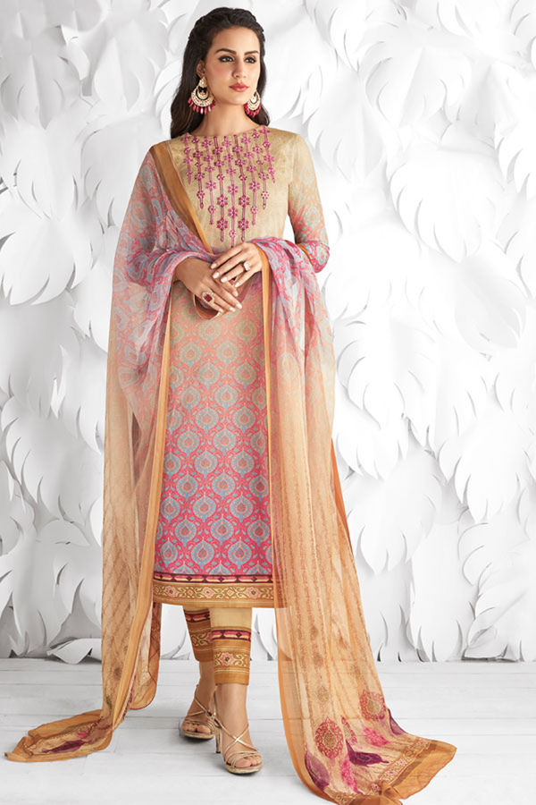 Casual Wear Straight Cotton Salwar Suit_22