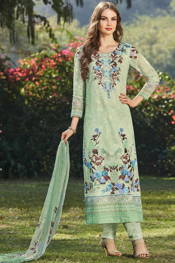 Casual Wear Straight Cotton Salwar Suit_6