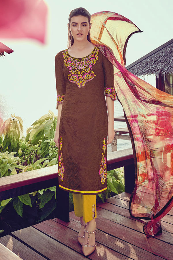 Casual Wear Straight Cotton Salwar Suit_60