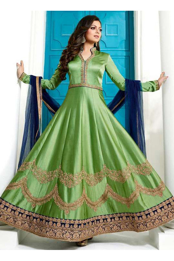 Drashti Dhami Embroidered Long Anarkali Suit_3