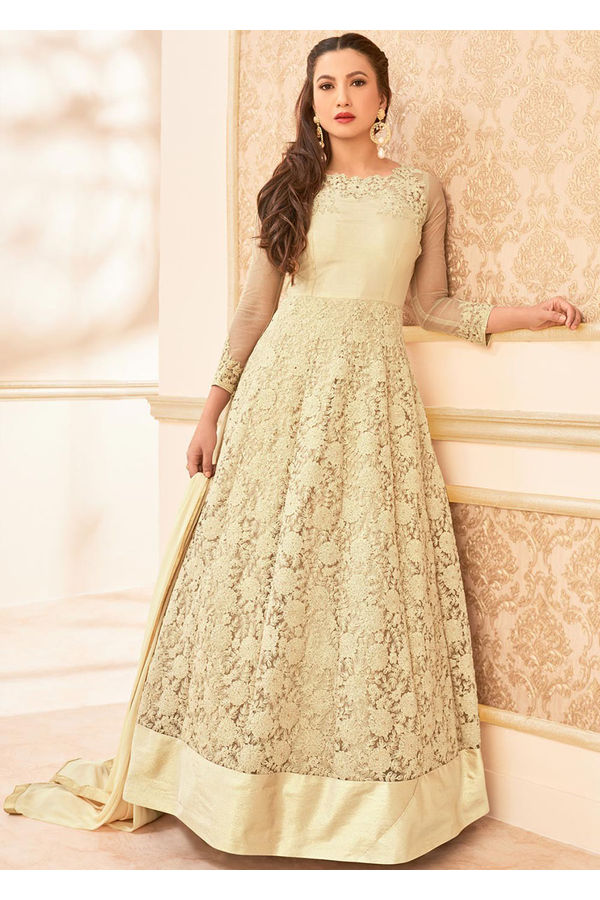 Elegant Gauhar Khan Anarkali Suit _1