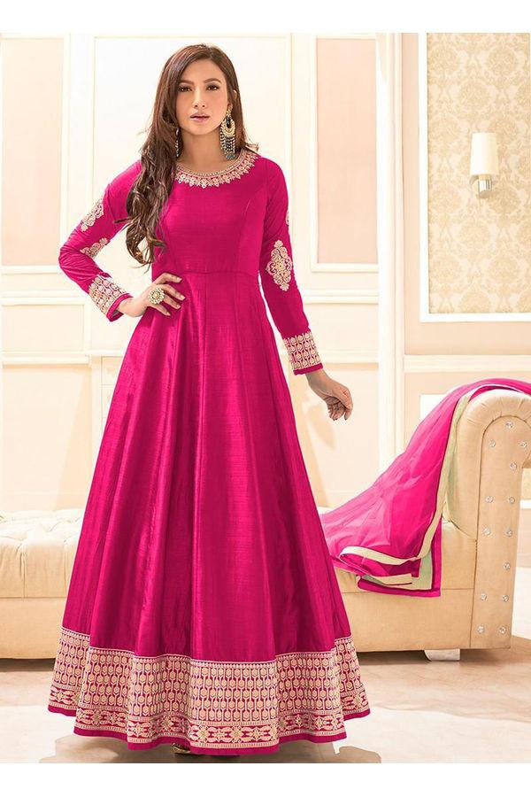 Elegant Gauhar Khan Anarkali Suit _12