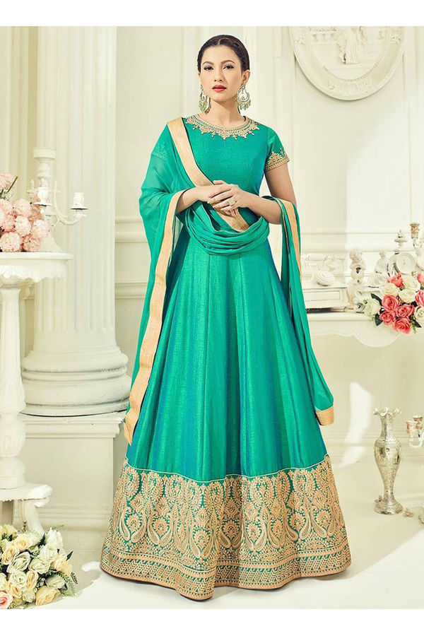Elegant Gauhar Khan Anarkali Suit _15