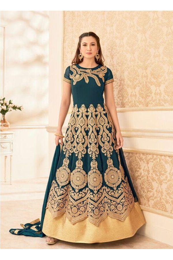 Elegant Gauhar Khan Anarkali Suit _3