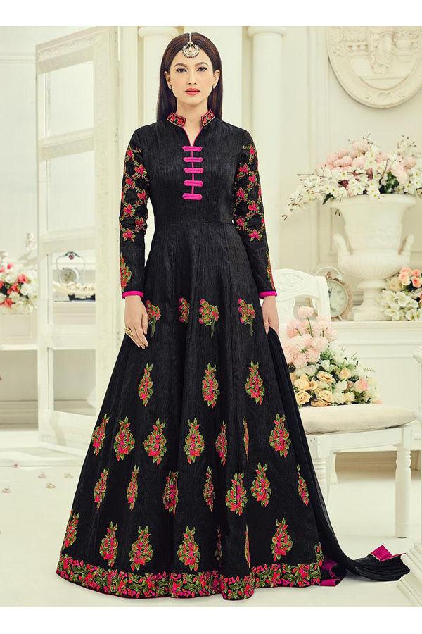 Elegant Gauhar Khan Anarkali Suit _5