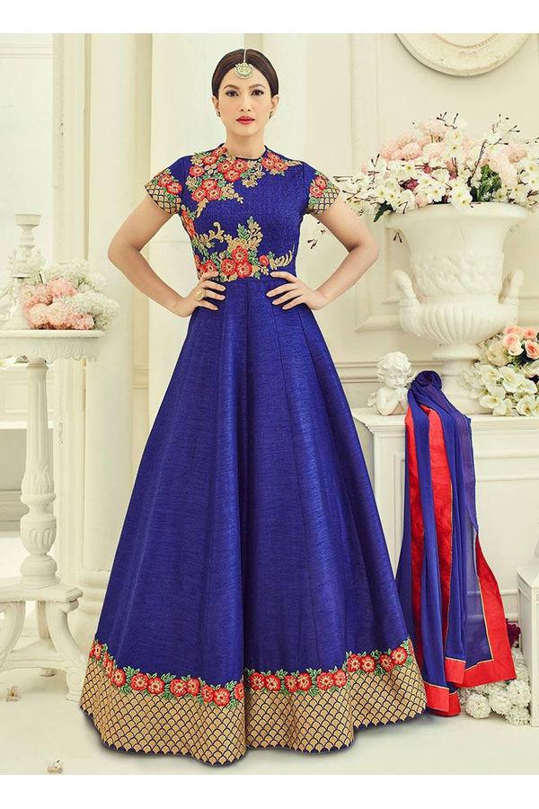 Elegant Gauhar Khan Anarkali Suit _6