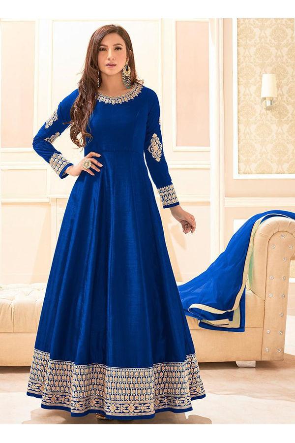 Elegant Gauhar Khan Anarkali Suit _8