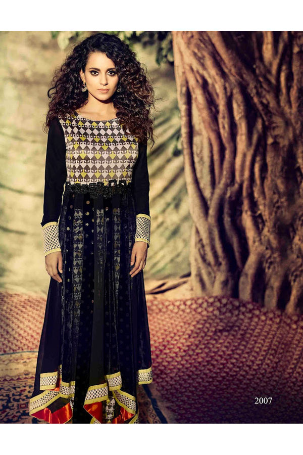 Kangana Ranuat Stylish Long Anarkali_1