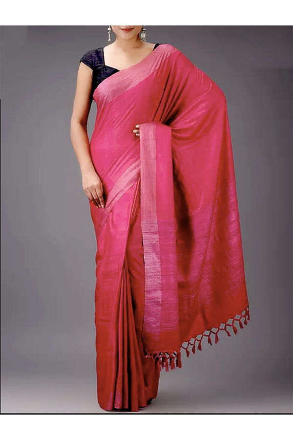 Dee's Alley Pink  Eri-Tussar Silk Saree
