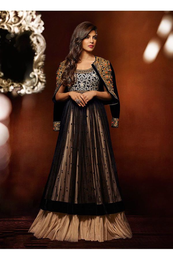 Priyanka Chopra Long Party Gown or Anarkali Dress for Indian wedding