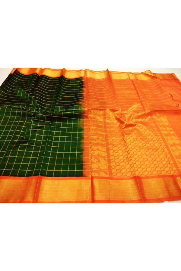 Dee's Alley  Kuppadam Pure Pattu Silk saree- 100% Pure Silk